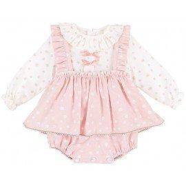 Ranita bebé niña rosa Hojas