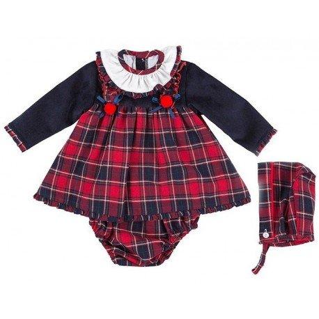 Jesusito bebé niña cuadros rojos Afra