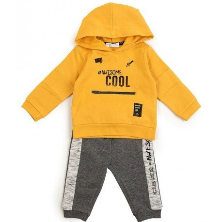Chándal bebé niño amarillo Cool