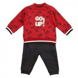 Chándal bebé niño rojo Go Up