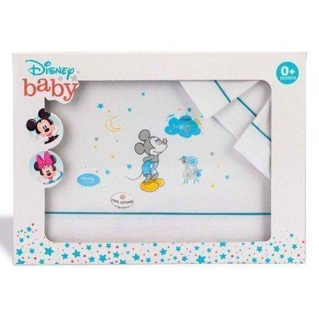 Sábanas bebé minicuna Mickey