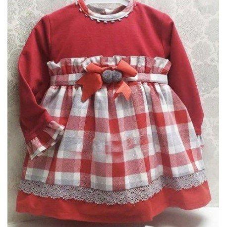 Vestido bebé niña cuadros elsa