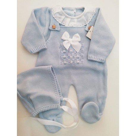 Peto bebé lana celeste
