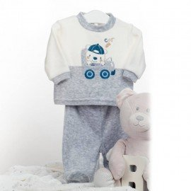 Pijama bebé dos piezas Oso coche