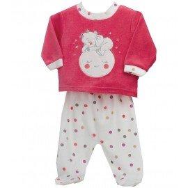 Pijama bebé dos piezas Elefante en Luna