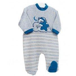 Pijama bebé gris Oso con Estrella
