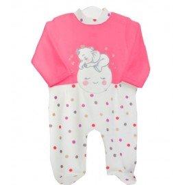 Pijama bebé niña rosa Elefante Luna