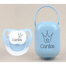 Cajita y chupete bebé Corona