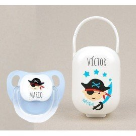 Cajita y chupete bebé Pirata