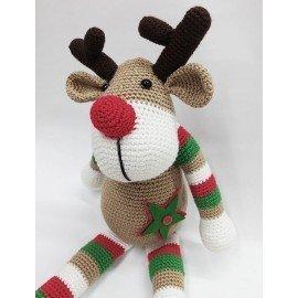 Muñeco amigurumi Reno Navidad