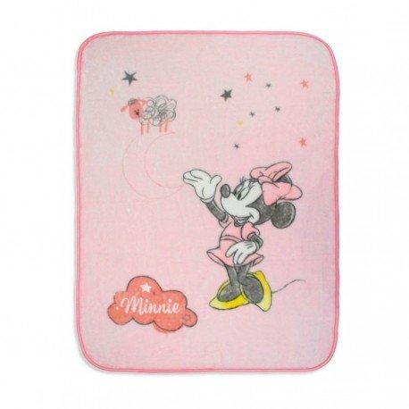 Manta cuna Minnie rosa
