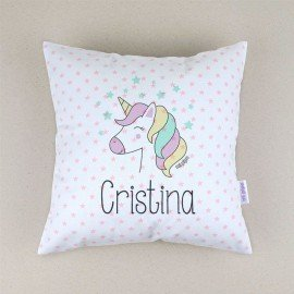 Cojín bebé personalizado Unicornio