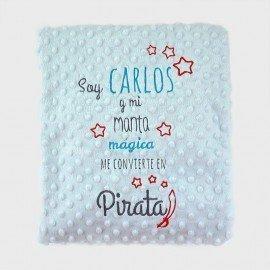 Manta bebé cuento Pirata