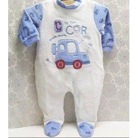 Pijama bebé invierno Coches
