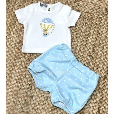 Conjunto bebé azul Globo