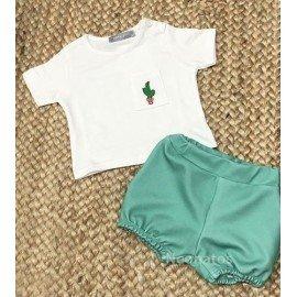 Conjunto bebé verde Cactus