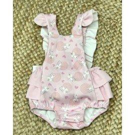 Ranita bebé niña rosa Gatitos