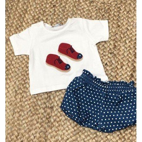 Conjunto bebé niño Zapatitos Rojos