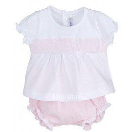 Conjunto bebé niña Cenefa Rosa