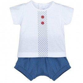 Conjunto bebé niño azul Botones