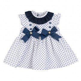 Vestido bebé niña azul Cloe