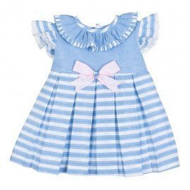 Vestido bebé niña rayas Celia