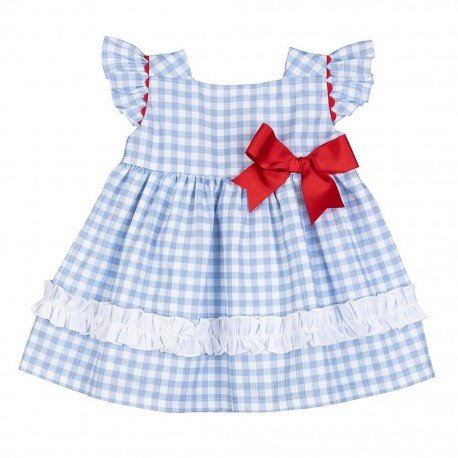 Vestido bebé niña azul Vichy