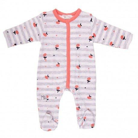 Pijama bebé flores Coral