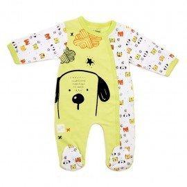 Pijama bebé verde Perrito