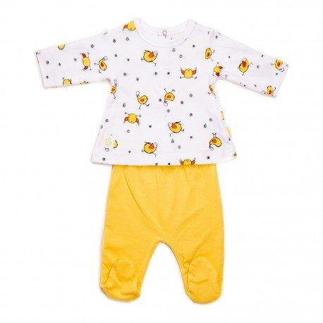 Pijama bebé dos piezas Pollito