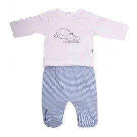 Pijama bebé dos piezas Elefantes
