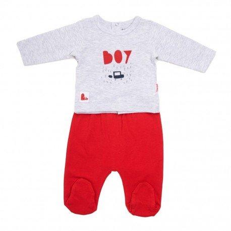 Pijama bebé rojo Boy