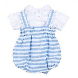 Ranita bebé a rayas con camisa Edu