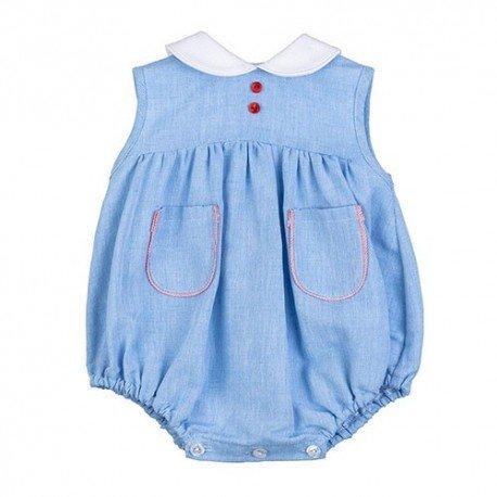 Ranita pelele bebé azul Aléx
