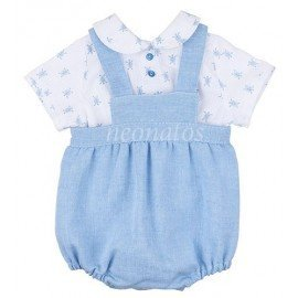 Conjunto peto bebé azul Tortuga