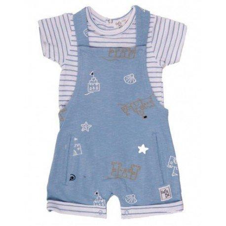 Peto bebé con camiseta Castillo de Arena