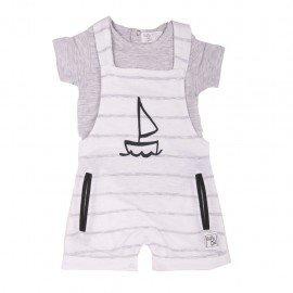 Peto bebé con camiseta Barca de Vela