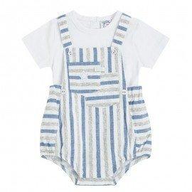 Peto bebé rayas con camiseta Estrella