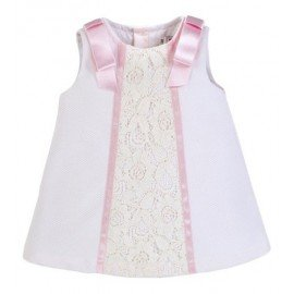 Vestido bebé niña blanco Alice