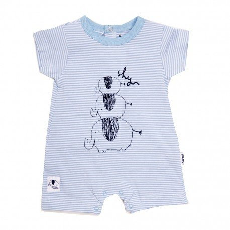 Pijama bebé niño azul Elefantes