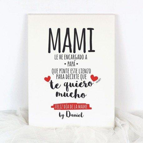 Lienzo Feliz día de la Madre