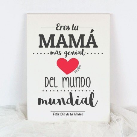 Lienzo La Mamá más genial del mundo