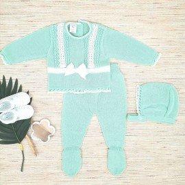 Conjunto bebé hilo Neo Verde