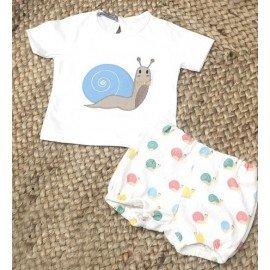 Conjunto bebé niño Caracol Azul