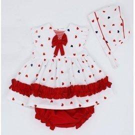 Jesusito bebé niña rojo Corazones
