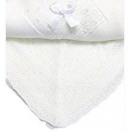 Toquilla bebé lana blanca Marisita