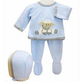 Conjunto bebé punto Oveja