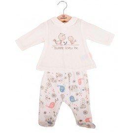 Pijama bebé niña invierno Pajaritos