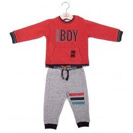 Chándal bebé rojo BOY