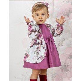Vestido bebé niña Rosas